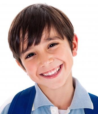 happy school boy